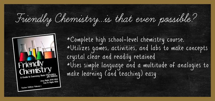 Friendly Chemistry Chalkboard bullet list